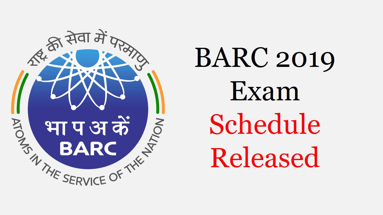 BARC Exam Schedule 2020