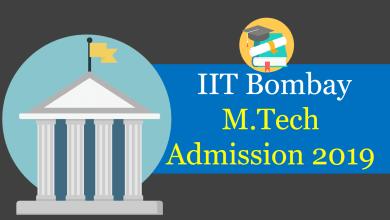IIT Bombay M.Tech Admission 2019