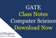 GATE Class Notes Computer
