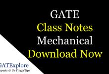 gate class notes mechanical