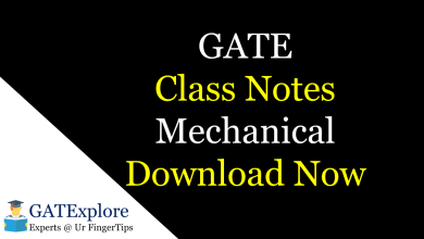 Photo of GATE 2021 Class Notes – Mechanical Engineering
