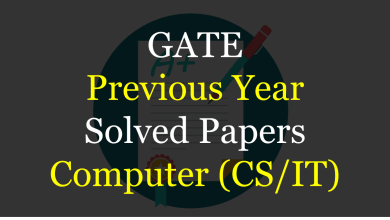 Photo of GATE Previous Year Solved Papers for CS/IT