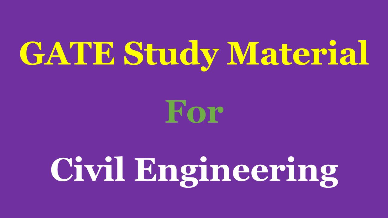 Pdf engineering gate syllabus civil 2016