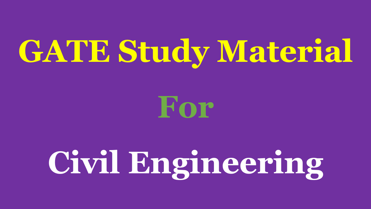 PDF] GATE Study Material for Civil Engineering - Free Download