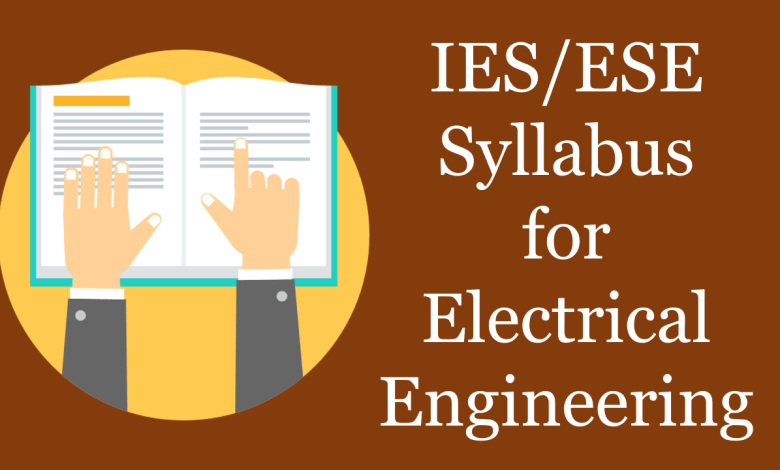 IES 2019 Syllabus for Electrical Engineering