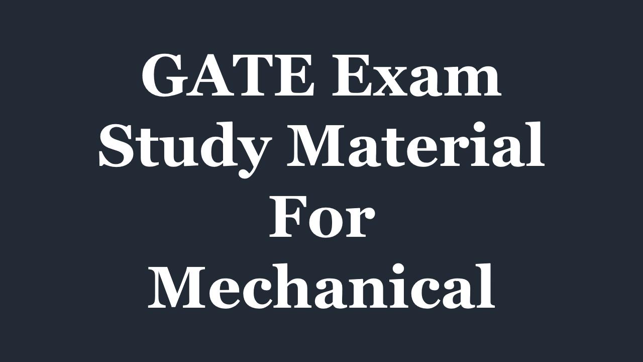 Gate Exam Material Pdf