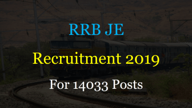 Photo of RRB JE Recruitment 2019