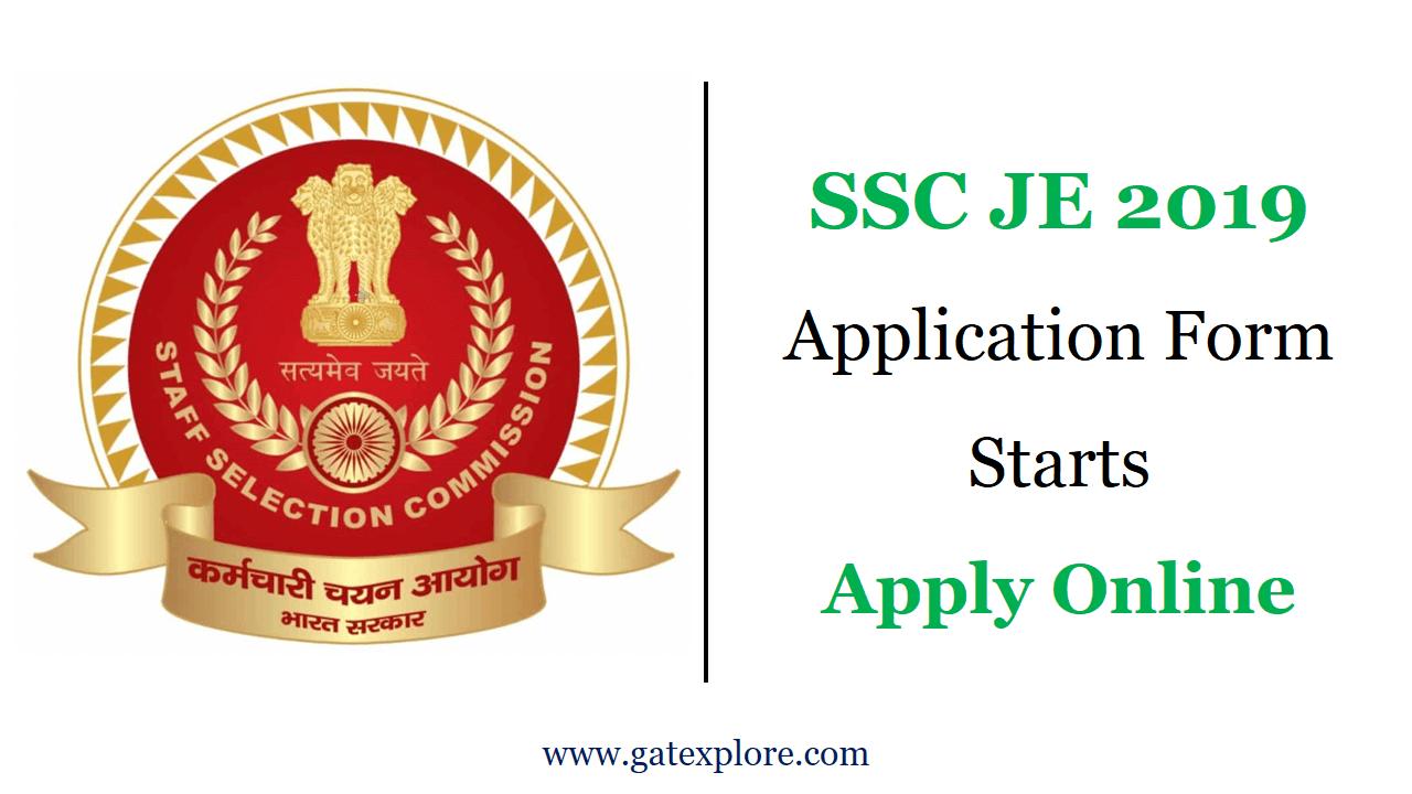 SSC JE 2019 Application Form