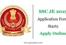 Photo of SSC JE 2020 Application Form Started