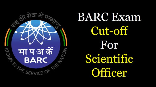 barc scientific officer cutoff