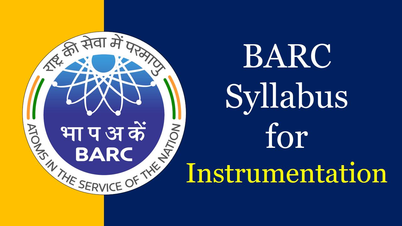 BARC Syllabus for Instrumentation