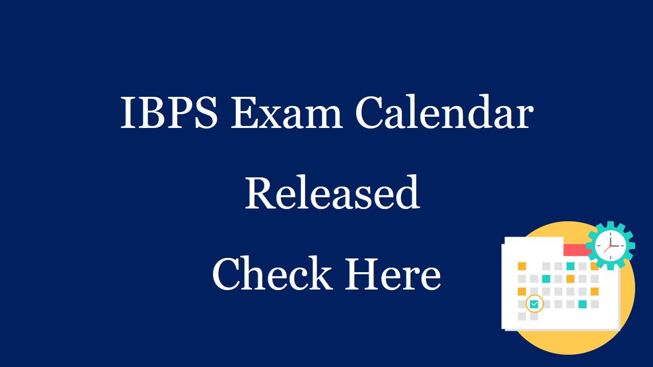 ibps calendar 2019