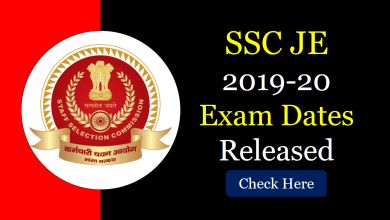 Photo of SSC JE 2019-20 Exam Dates Released