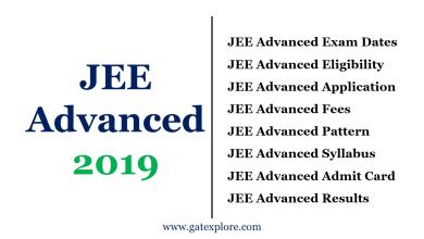 Photo of JEE Advanced 2019 Exam Date