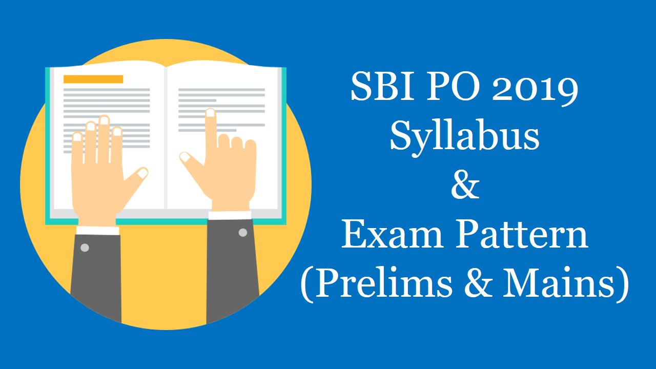SBI PO 2019 Syllabus