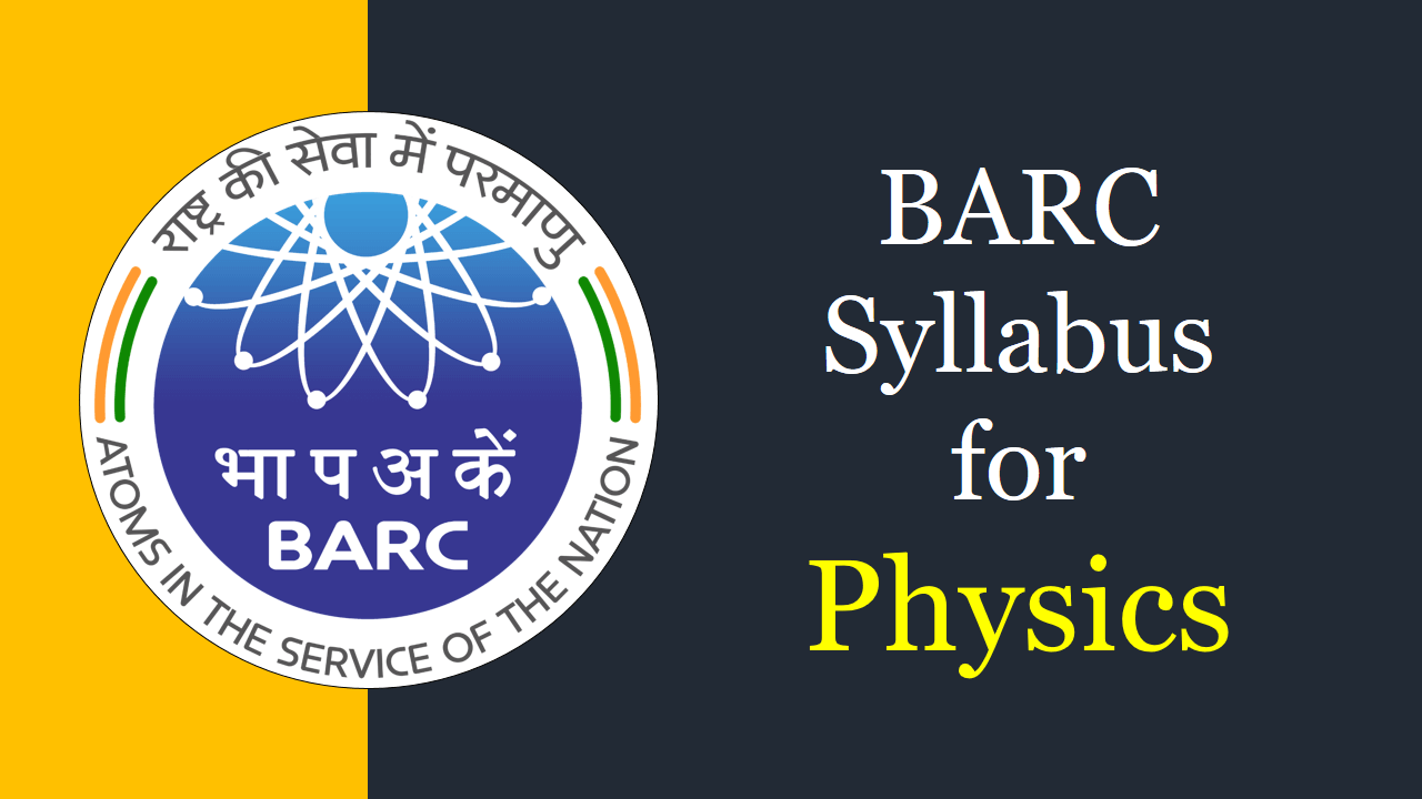 barc syllabus for physcis