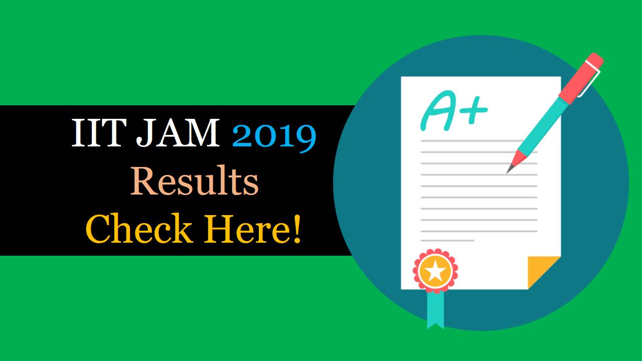 IIT JAM 2019 Result