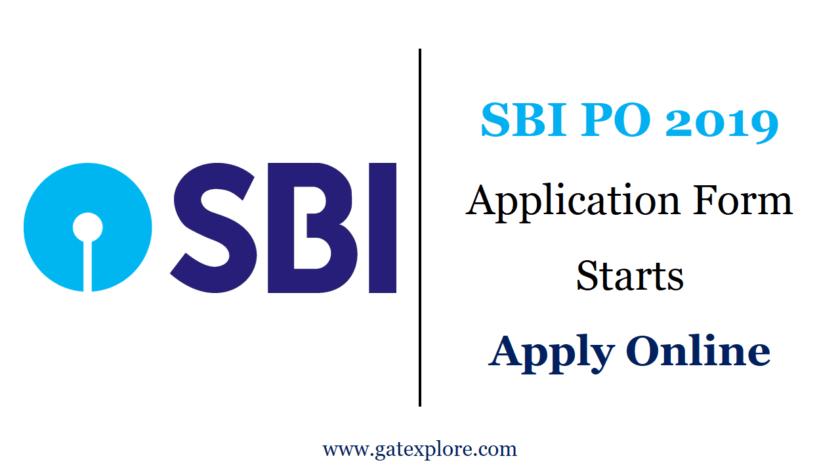 SBI PO 2019 Application form