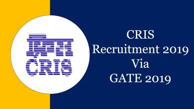 Photo of CRIS Recruitment 2019 through GATE