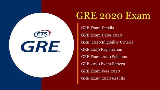 GRE 2020 exam
