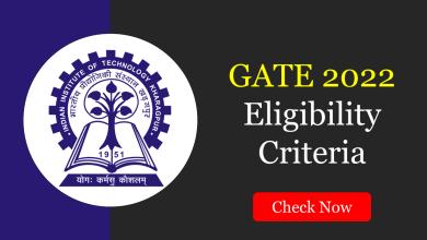 GATE 2022 Eligibility Criteria