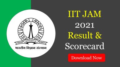 IIT JAM 2021 Result