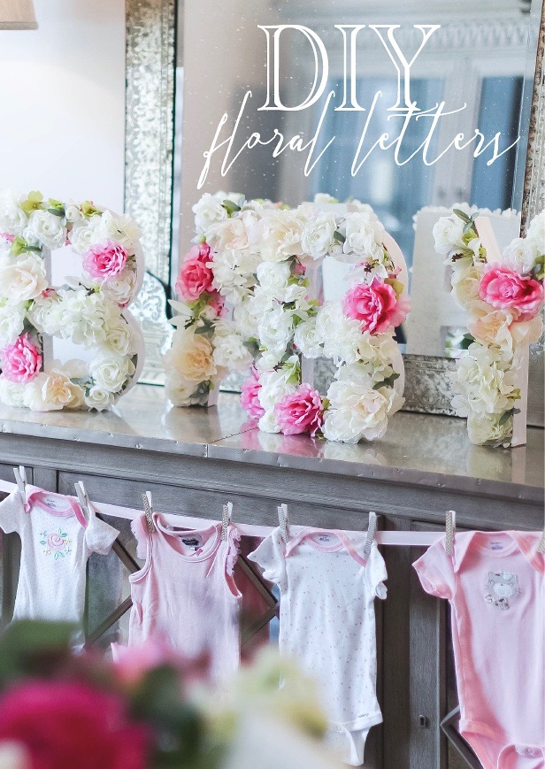 Baby Letters For Baby Shower : letters, shower, Floral, Letters, Gather, Grace