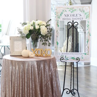 A White & Gold Bridal Shower