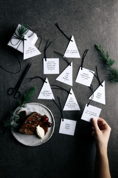Free Printable Christmas Gift Tags Amp Place Cards Gather