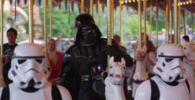 Darth Vader in Disneyland