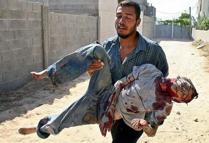 Masacre en Gaza. Autor: https://www.flickr.com/photos/freegaza/