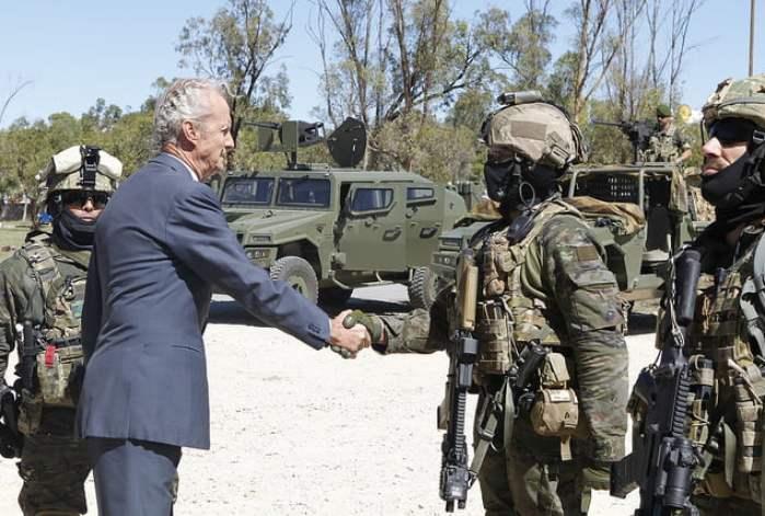 Visita del Ministro al Mando de Operaciones Especiales. Foto: Ministerio de Defensa