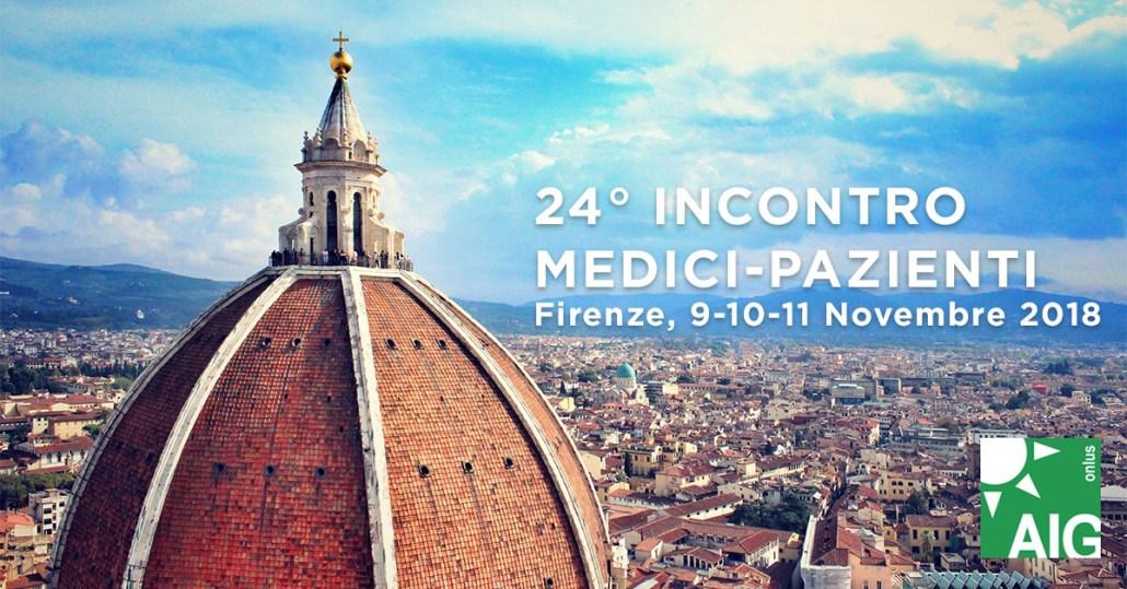 24° incontro medici-pazienti Gaucher: Firenze, 9-10-11 Novembre 2018