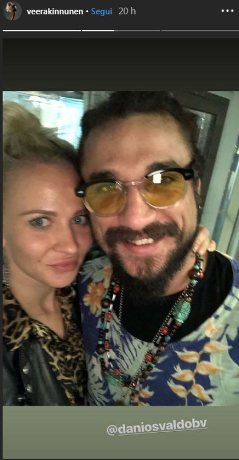 Dani Osvaldo e Veera Kinnunen insieme fidanzati