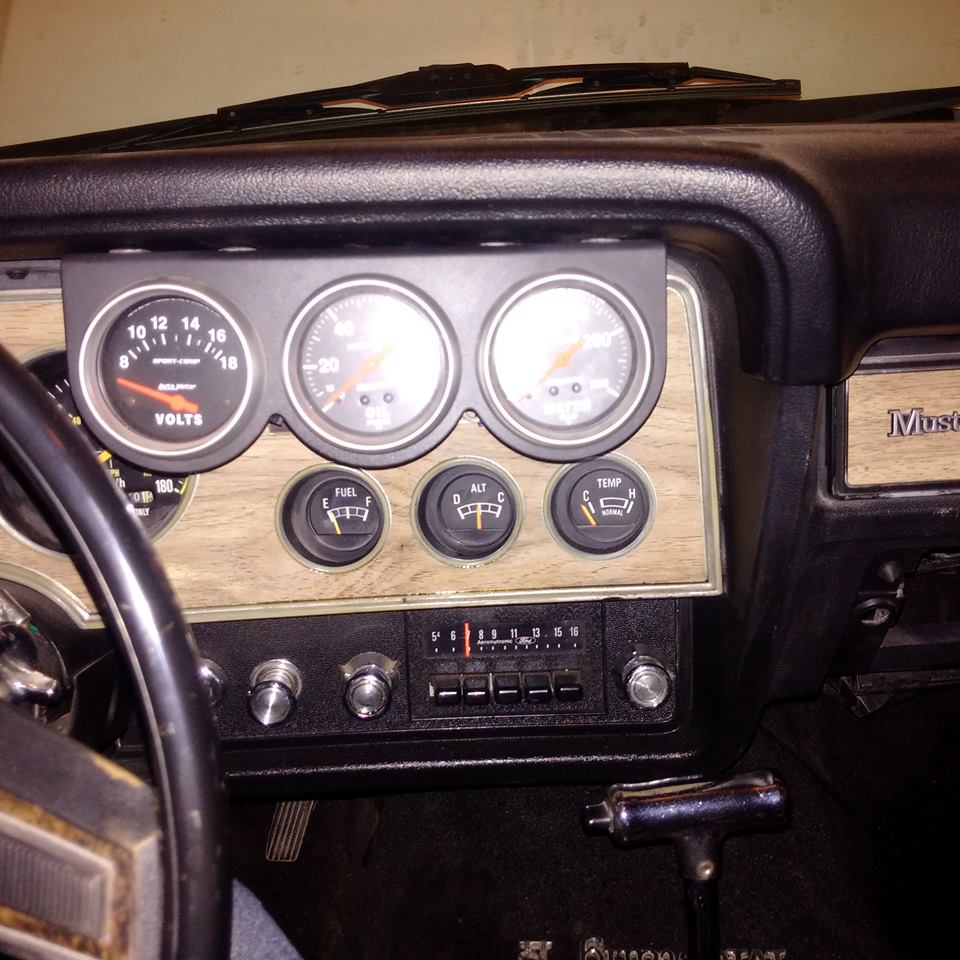 i decided to get rid of the custom tachometer that i had mounted to the  steering column and go with the original tach  in order to do this i needed  a tach
