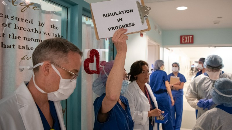 Medical professionals use simulation to help them prepare for COVID-19 patients