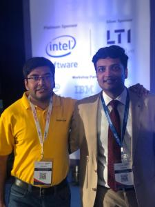 Gaurav Tripathi with Kunal Jain, CEO of Analytics Vidhya