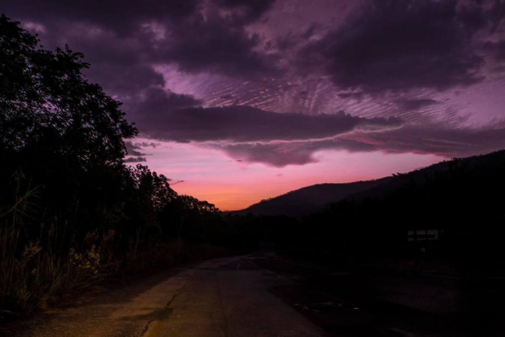 Life Coaching - Dark Pink Sky over mountains