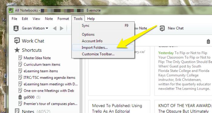 Windows Import Folder