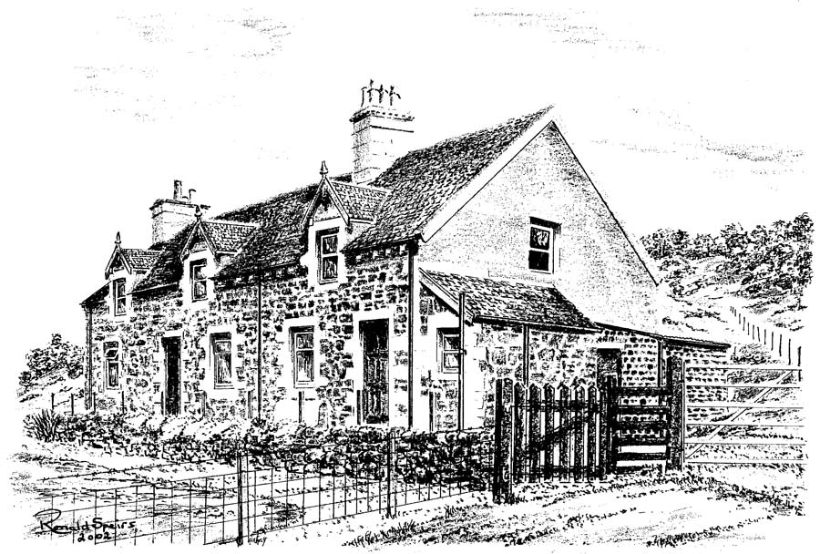 An Artists Impression Of The Original Cottages At Gavinburn