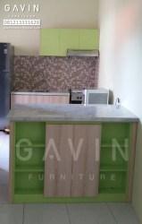Kitchen Set Minimalis Warna Hijau Di Joglo Jakarta Barat