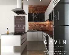 Q2175 pembuatan kitchen set design minimalis modern