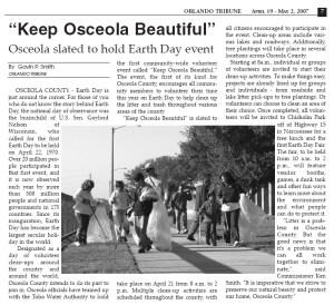 Orlando Tribune - Osceola Beautiful 2007 Gavin P Smith