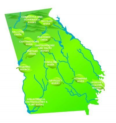 Map Of Georgia 2017.Coalition Announces Clean Water Heroes In First Clean 13 Report