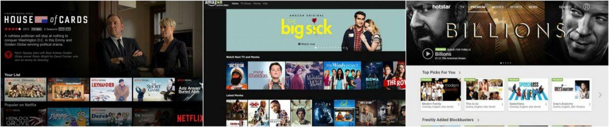 Amazon Prime Vs Netflix Vs Hotstar in India : the best video