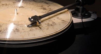 Cremated ashes turned into a vinyl record