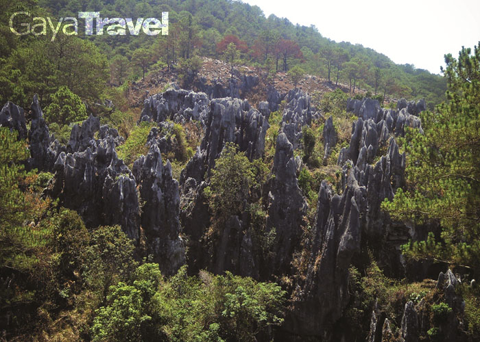 Sagada is nestled in a valley at the upper end of the Malitep tributary of the Chico River