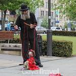 Street Puppet show in the city