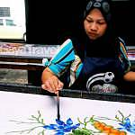 The process of the batik printing