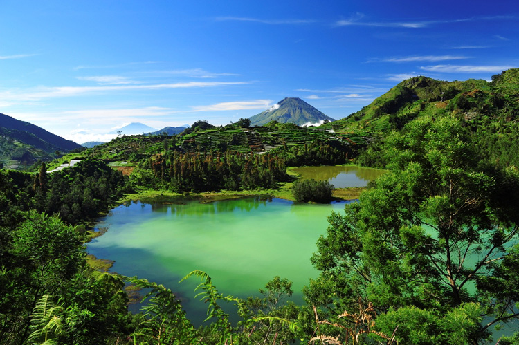 Malang,Lake in Java Indonesia
